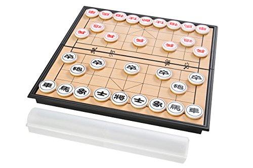 Quantum Abacus Azerus Basic Line: Spielset klassisches chinesisches Schach / Xiangqi mit magnetischem Klapp-Spielbrett, Brett Größe M - 25cm x 25cm (SC5699 DE)