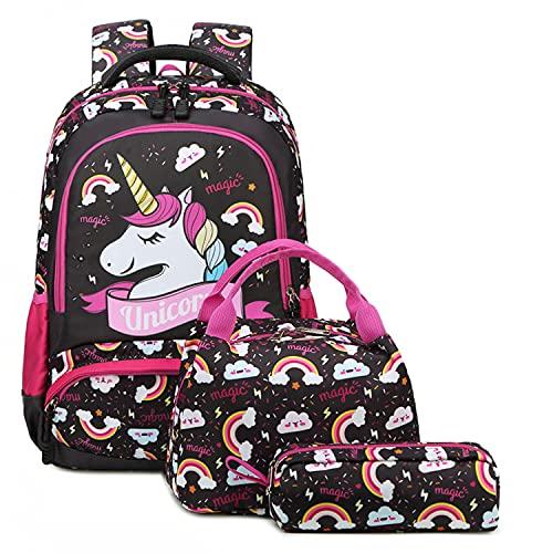 Barn ryggsäck enhörning väska flickor skolväskor för flickor skolryggsäck enhörning ryggsäckar för flickor för skolväskor för tonårsflickor gåvor