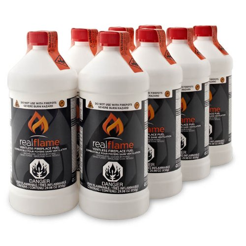 Real Flame 2264 Ventless Fireplace Fuel, 8-Pack