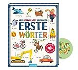 Livre sonore parlant - Premiers mots : 50 mots & sons (édition reliée) + autocollants pour enfants, livre pour enfants à partir de 2 ans