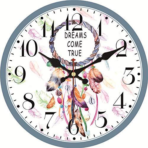 Tomyz wandklok, bloemendesign, stil, decoratie, voor thuis, studeerkamer, café, kantoor, hal, klokken, kunst, wall, klein, 15°cm