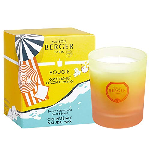 Lamp Berger Blissful geurkaars, glas, wit/oranje/geel, 7 cm