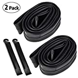 YunSCM 26 inch Inner Tubes_ 26x1.90/26x1.95/26x2/26x2.10/26x2.125 Inch Bike Inner Tubes Replacement for 32mm Schrader Valve MTB Bike Inner Tubes Durable Butyl Rubber Bike Tires, 2 Pack