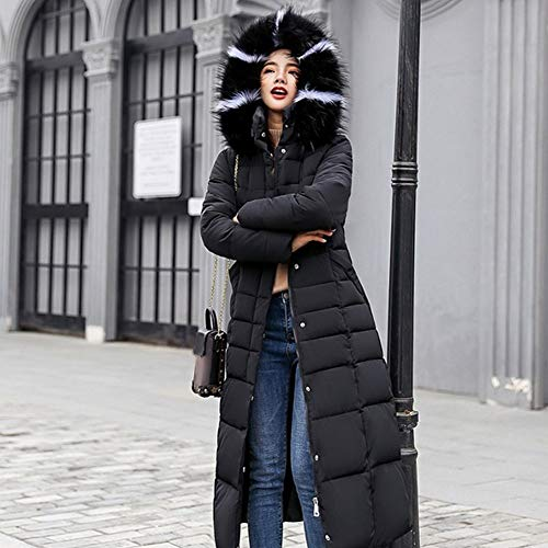 DPKDBN Down Jacket, Winter Jacket Vrouwen Hooded Black Gray Down Coat Warm Slim Lange gewatteerde Katoen Vrouw Bovenkleding