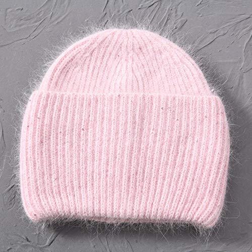 GZTCAP Beanie Sombrero Sombrero de Invierno Gorros cálidos Sombreros Gorros Casuales de Punto sólido con Alambre Brillante