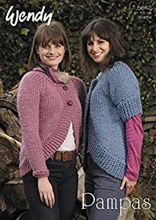 Wendy Ladies Cardigan Pampas Knitting Pattern 5642 Super Chunky