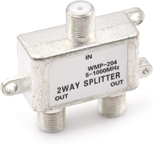 DORATA - 1 x 2 Way 5-1000 MHz Coaxial Signal Dedication Connector F Kansas City Mall Splitte
