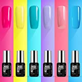 Gel Nail Polish- Summer Gel Nail Polish Red Yellow Blue Gel Polish 6...