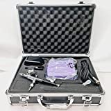 Airbrushing Metal Case Set Mini Compresor De Aire Kit HS08 Una Serie Aerógrafo Manguera Pistón Tipo