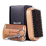 Coviya Juego de 3 herramientas de aseo del kit de afeitado para brocha de afeitar masculina Brocha de barba para el cabello Brocha de afeitar