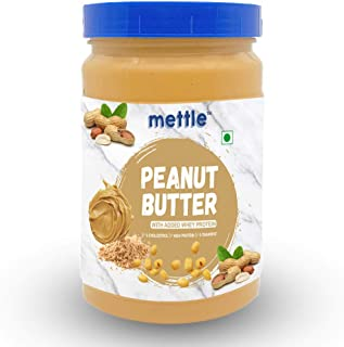 Swasthum Mettle High Protein Peanut Butter 907g (with Added Whey Protein) (Non-GMO, Gluten Free)