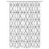 IKEA 303.469.10 Följaren - Cortina de Ducha, Color Blanco y Negro