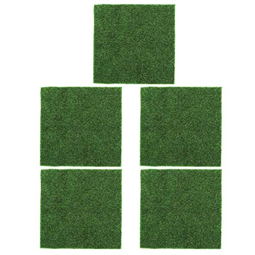 MEIHSI 5 Piezas de decoración de jardín de césped Artificial de Forma Cuadrada con 30x30cm