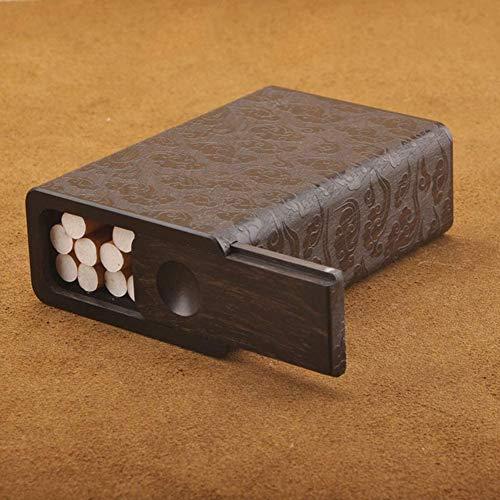 BECCYYLY Caja de Cigarrillos Caja de Cigarrillo de Madera Retro Creativa Personalidad Simple Caja de Cigarrillo de Gran Capacidad portátil Ultrafina Puede acomodar 10/20 Cajas de Cigarrillos