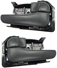 Interior Door Handles compatible with Set of 2 Front or Rear Left and Right Side Plastic Black W/door lock button