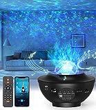 Nestling Proyector de Luz Estelar, LED de Luz Nocturna Giratori, Lámpara de Nocturna Estrellas y Océano con Múltiples Modos de Luz, Proyector Galaxy con Altavoz Bluetooth