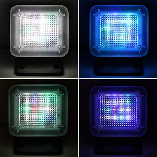LED TV Simulator, SUNJULY 2W 4 Modi Fake-TV-Licht Stromversorgung über USB, Einschaltautomatik, Mit Timer Und Lichtsensor Einbruchschutz Home Security, Schwarz