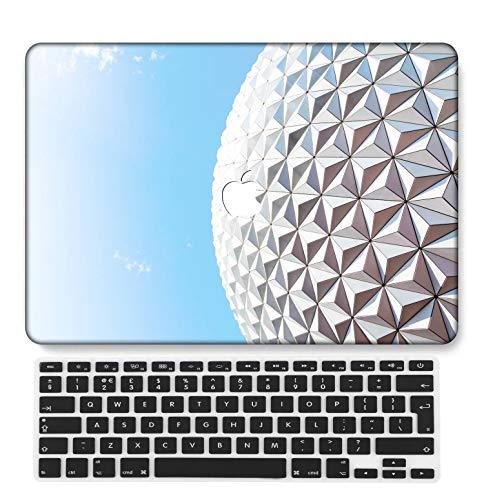 GangdaoCase Plástico Ultra Delgado Ligero Estuche RígidoDiseño Cortado Compatible MacBook Pro 13 Pulgadas Retina Pantalla Sin CD-ROM con UK Cubierta Teclado A1425/A1502 (Serie Rosa 0586)