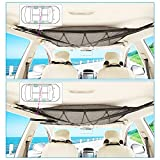 Car Ceiling Storage net,Car Organizer, Cargo net,Car Travel Accessories,Car Camping Bags for Long Trips,Sundries Pouch with Zipper Buckle,Storage Tent Clothes Picnic mat Toys net Bag (1 Pack)