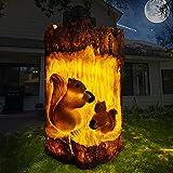 Solar Gartenleuchte, KagoLing Solarleuchte Garten Eichhörnchen Förmige Gartendeko Wasserdichte LED Solarleuchte Harz Nachtlichter Rasen für Hinterhöfe, Gärten, Rasen Beleuchtung