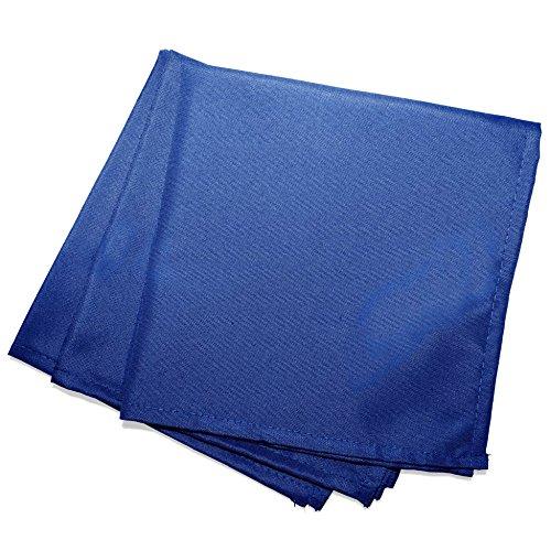 douceur d'intérieur 3 serviettes de table 40x40 cm essentiel indigo