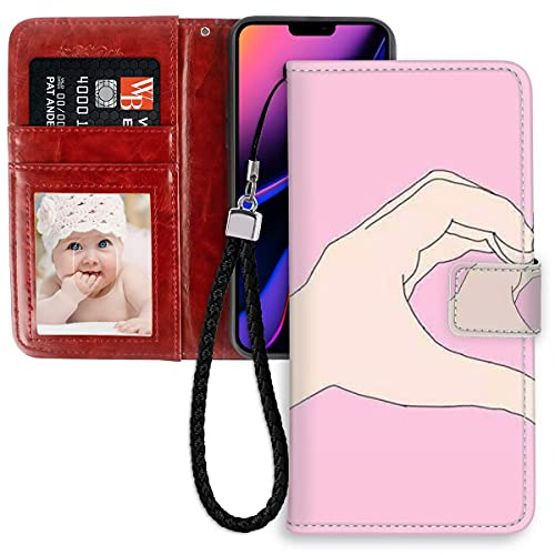 HUAKE Wallet Case fit for iPhone 11 Pro Max with Best Friend Pattern Premium PU Leather Wallet with Viewing Stand Card Slots Magnetic Buckle Folio Flip Cover Wrist Strap.