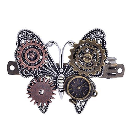KISSFRIDAY Butterfly shape steampunk gear alloy hairpin hair accessories jewelery