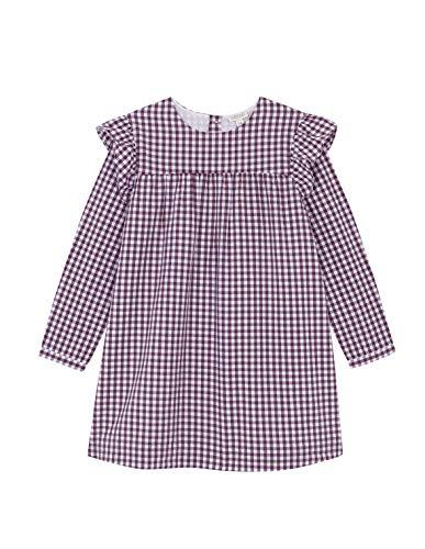 Gocco Vestido Vichy Volantes Berenjena Dress, 43894 para Niñas