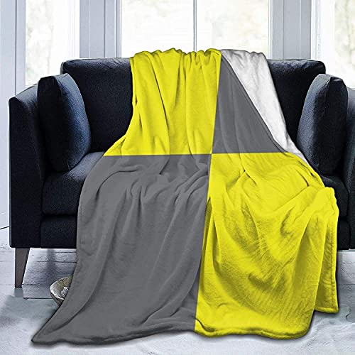 Ultraweiches Micro-Fleece-strapazierfähiges Kissen mit internationaler Flagge, Buchstabe L (Lima), Überwurf, Decke, weich, warm, für Bett, Bett, Sofa, Büro, Wohnzimmer, Heimdekoration, 127 x 152,4 cm