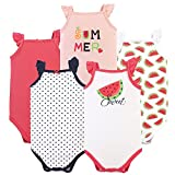 Hudson Baby Unisex Baby Cotton Sleeveless Bodysuits, Watermelon, 12-18 Months