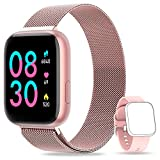 NAIXUES Montre Connectée Femmes Hommes avec Cardiofrequencemètre et Tensiomètre Smartwatch Etanche IP67 Montre Sport Podometre Calories Chronometre Montre Intelligente Tactile pour iPhone Android