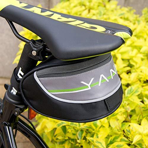 YABAISHI MTB Road Bike Accesorios Asiento Post Bolsa Bolsa Trasera Bolsa Bolsa Bicicleta Bicicleta Sillín Bolsa Triángulo Impermeable (Color : Black)