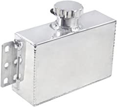 ALLOYWORKS 1L Universal Aluminum Oil Catch Can Coolant Overflow Expansion Reservoir Fuel Tank for Honda Civic 240SX WRX