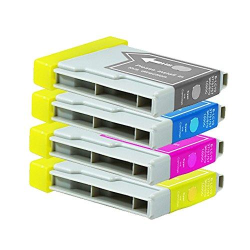 4 Druckerpatronen Tinte für Brother DCP130C DCP135C DCP150C MFC235C MFC680C ersetzen LC970 LC1000