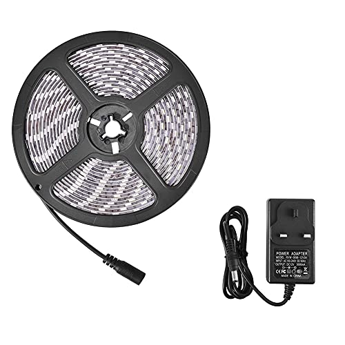 Hiliff Barra ligera de baja tensión del LED, 5050 60 cuentas/m 12v luz impermeable de epoxy