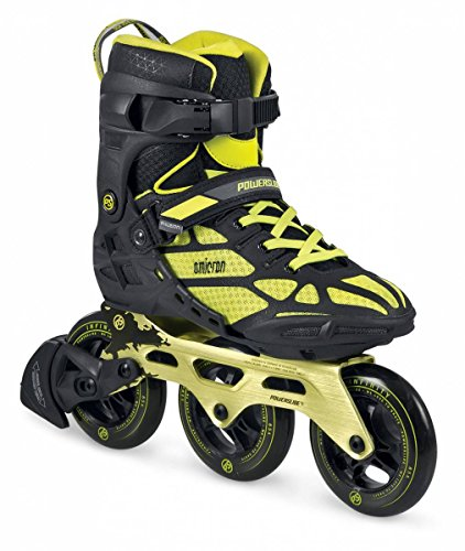 Powerslide PHUZION Skates, Omicron 3-Wheeler Black/Yellow - 44