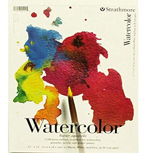 Strathmore (25-111 200 Series Watercolor Pad, Cold Press, 11'x15'