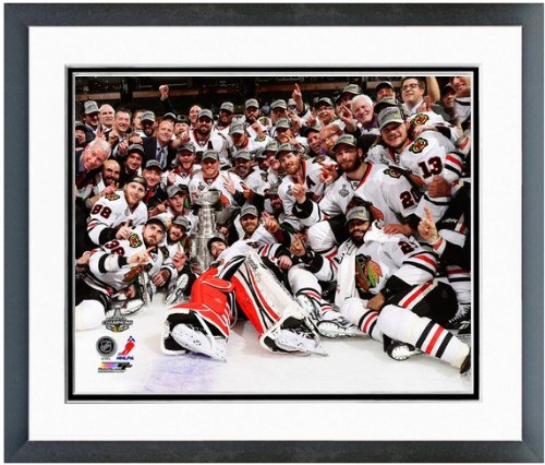 Patrick Kane Chicago Blackhawks NHL Framed 8x10 Photograph with 2010 Stanley Cup Trophy
