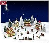 Cobblestone Corners Miniature Christmas Village Complete 2019 Set - 28 Pieces - Houses, Trees, Decorations, & Villager Figurines -...