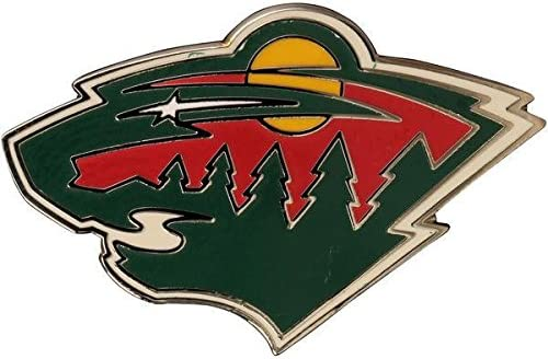 Wincraft NHL Max 76% OFF Minnesota Wild Detroit Mall Logo Pin Collectors Metal 1-inch
