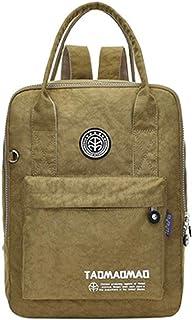 Fresh wild simple fashion Lightweight Nylon Backpack Waterproof Multi-Pocket Shoulder Bag School Bag,Size:27 * 12 * 32cm,C...
