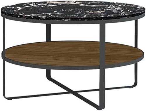 promociones emocionantes BJYG Mesa de de de Centro Plegable de mármol de la Sala de Estar del Tablero de Mesa Doble de mármol Disponible en Dos Colors (Color  negro, tamaño  60  50 cm)  para barato
