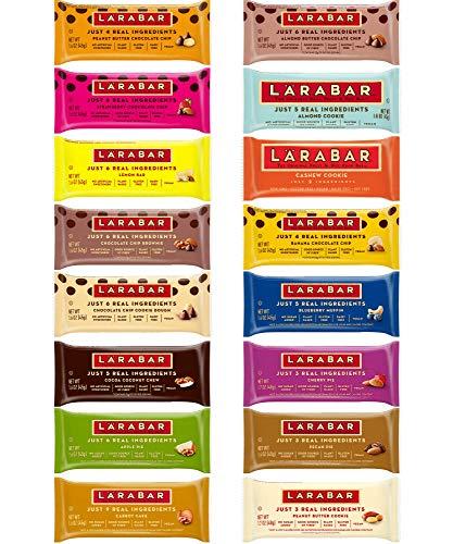 Larabar Gluten Free Snack Bars Variety Pack, (16 Bars), 1.7oz In Sanisco Packaging.