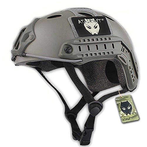 ATAIRSOFT Fast PJ Swat Gefechtshelm, geeignet für CQB/Nahkampf, Softair, Paintball, nachgebildete Militärausrüstung, mit Foliage Green Tarnmuster