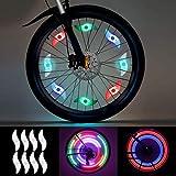 LEDGLE LED Radlichter 8 Stück (rot, grün, blau, Mehrfarbig) Speichenlicht Rad Speichen Fahrrad...