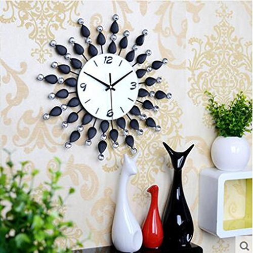 MNMKJH,reloj moderno y elegante salón de pared, mesa colgan