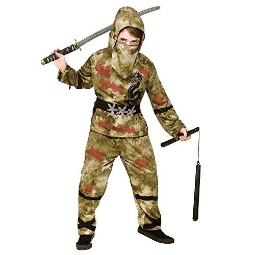 Kids Boys Zombie Ninja Halloween Fancy Dress Costume