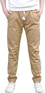 CNMUDONSI Pants for Boys 7-16 Years Old Kids Casual Active Pants Boys Slim Fit Lounge Prime