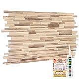 Pannelli decorativi 3D per pareti in legno, effetto ardesia, rivestimento in plastica PVC (12, legno ornamentale beige)