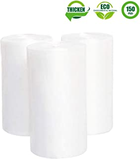 Small Clear Trash Bags, Aijoso 2.6 Gallon Garbage Bags Wastebasket Bin Liners Plastic Trash Bags for Bathroom Bedroom Office Garbage Can, 150 Counts